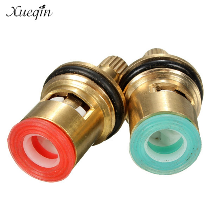 2Pcs Standard 1/2 Ceramic Faucet Cartridge Water Mixer Tap Inner Faucet Disc Valve Quarter Turn Cartridges Handle Switch Repair