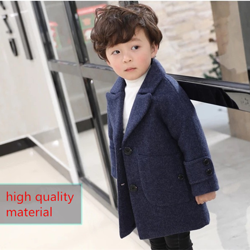 Autumn Winter Jacket Toddler Boys Kids Coats Long Sleeve Turn-down Collar Single Breasted Children Jackets For Baby Boy Clothes stylish shirt collar long sleeves single breasted jumpsuit for women