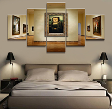 Canvas Printed Game Poster Minecraft 5 Pieces Wall Art Painting Home Decor For Living Room Artwork Mona Lisa
