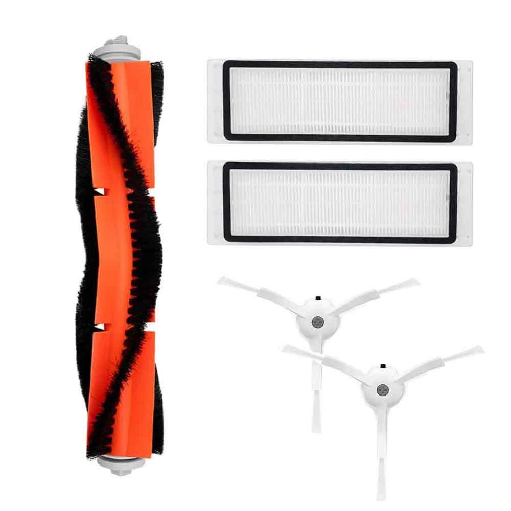 Vacuum Cleaner parts 2x side brush 2x HEPA filter 1x main brush Suitable for Xiaomi Mi Robot Cleaning Tool цена и фото