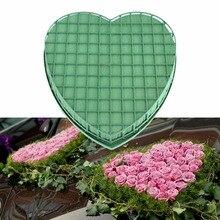 Baru 1 PC Hati Bentuk Bunga Busa Basah Segar Floral Pernikahan Mobil Bunga  Display 19 Cm afb375dd75