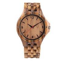 Relógio de pulso de madeira natural para homem relógios de pulso de negócios para o menino