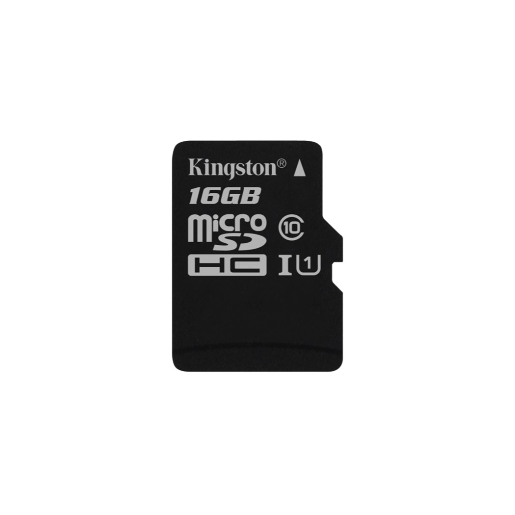Kingston Technology Canvas Select, 16 GB, MicroSDHC, Class 10, UHS-I, 80 MB/s, Black