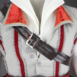 Image 3 - Hot creed cosplay costume ezio assasin connor sweater pants coat 16 PCS Halloween set for man women kids custom made