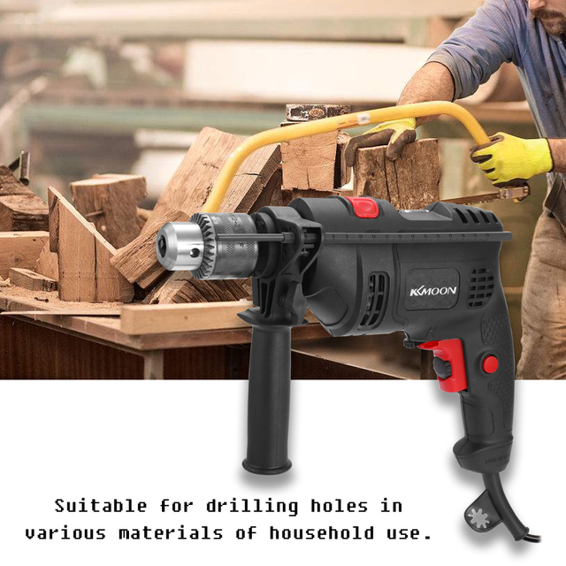 Adjustable Speed Electric Drill Impact Drill Electric Hammer Drill High Power 220V Dual use Positive Negative Rotation Tool