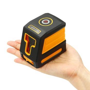Mini Lazer Seviyesi 2 Kırmızı Çapraz Çizgi Yatay Lazer Seviyeleri 15 M 635nm Otomatik Kendini Tesviye Lazer Seviye Teşhis Araçları