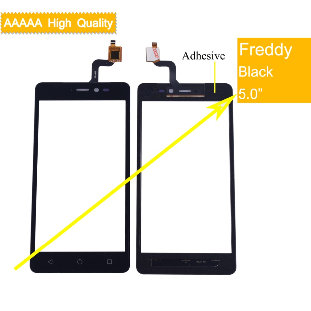 10Pcs lot For Wiko Freddy Touch Screen Panel Sensor Digitizer Front Outer Glass Touchscreen Freddy Touch
