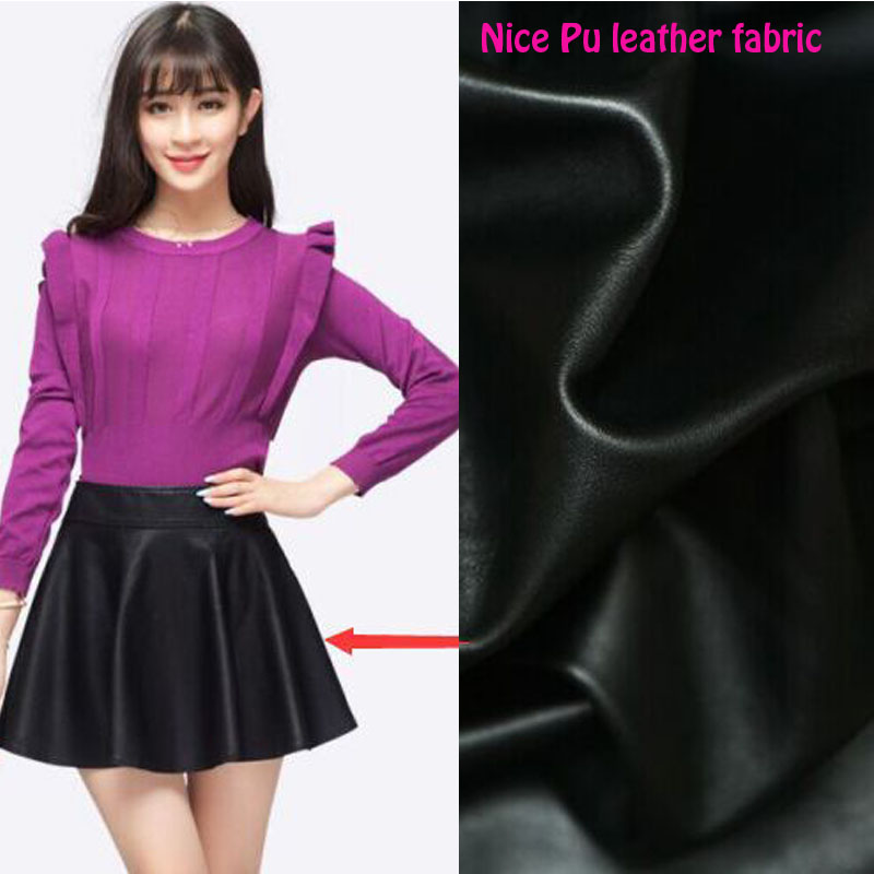 High Quality 135*50cm PU Leather Fabric Black,Faux Leather Fabric,Synthetic Leather Fabric For Diy Sewing Clothing/Pants/Coat