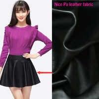High Quality 135*50cm PU Leather Fabric Black,Faux Leather Fabric,Synthetic Leather Fabric For Diy Sewing Clothing/Pants/Coat