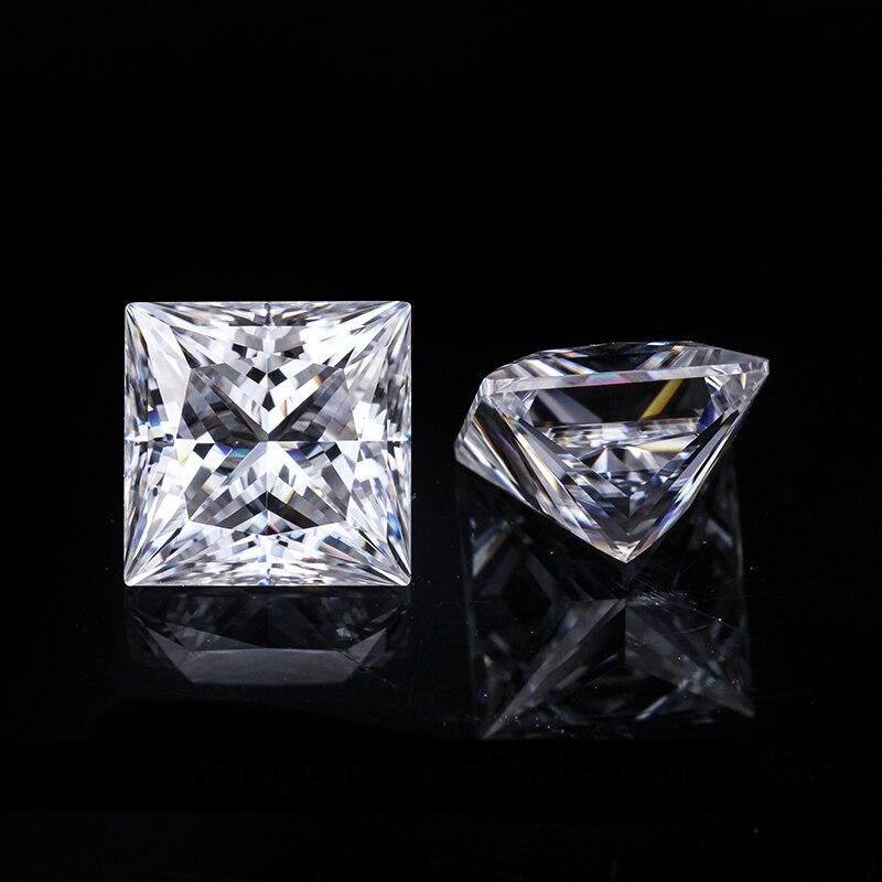 4 4mm Princess Cut VVS Moissanite Moissanite Stone Loose Moissanite Diamond 0 37 carat for Ring