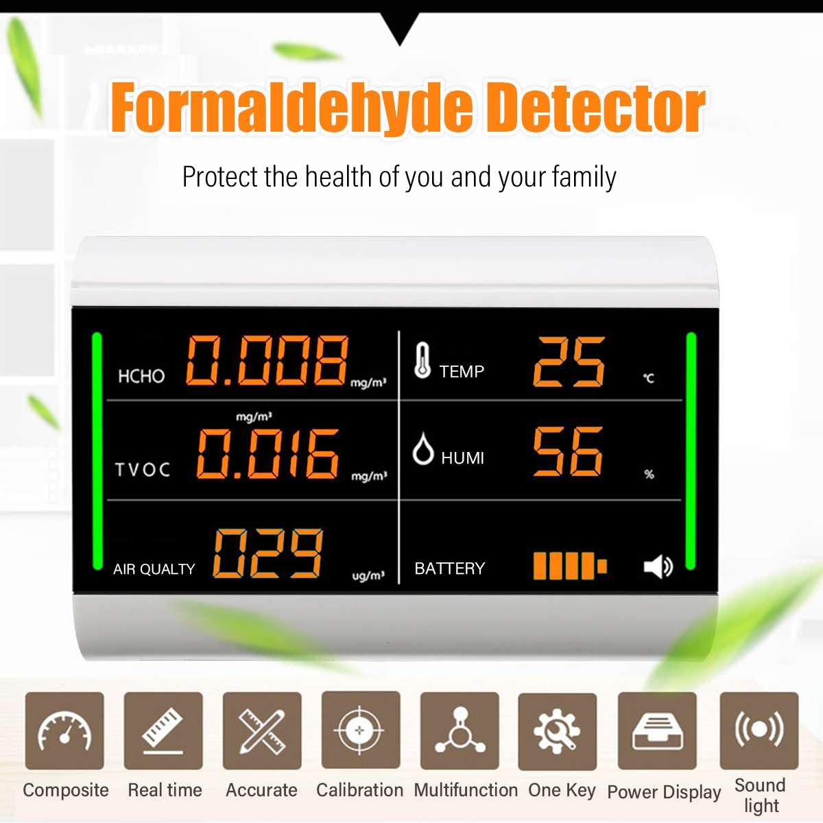 Analysatoren Gelernt Digitalen Bildschirm Formaldehyd Tester Usb Aufladbare Tvoc Hcho Benzol/staub/temperatur/feuchtigkeit Meter Hause Luft Qualität Detektor