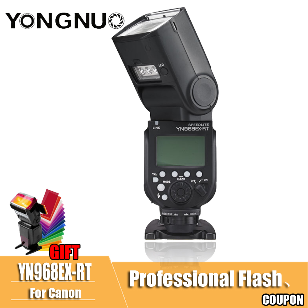 YONGNUO YN968EX-RT YN968 EX RT Flash Speedlite High-speed Sync TTL Wireless for Canon 5DIII 6D 7DII 60D 1100D 1200D 1000D700DYONGNUO YN968EX-RT YN968 EX RT Flash Speedlite High-speed Sync TTL Wireless for Canon 5DIII 6D 7DII 60D 1100D 1200D 1000D700D