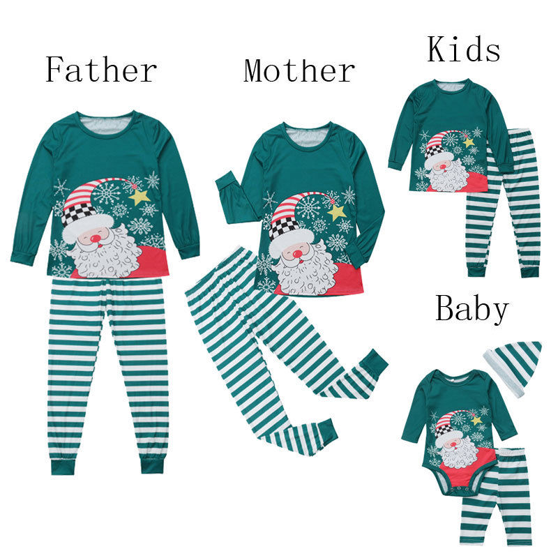2-5T Christmas Toddler Baby Kid Pyjamas Xmas Nightwear T-Shirt Pants Pajamas Set