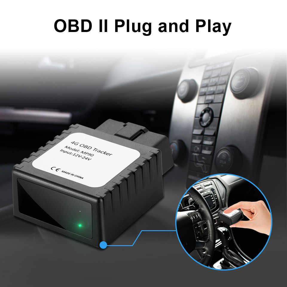 VJOYCAR 4G que OBD GPS Tracker MP90 Real 4g Lte Chip localizador Plug & Play, fácil de instalar para activos de Taxi gestión de flota de vehículos