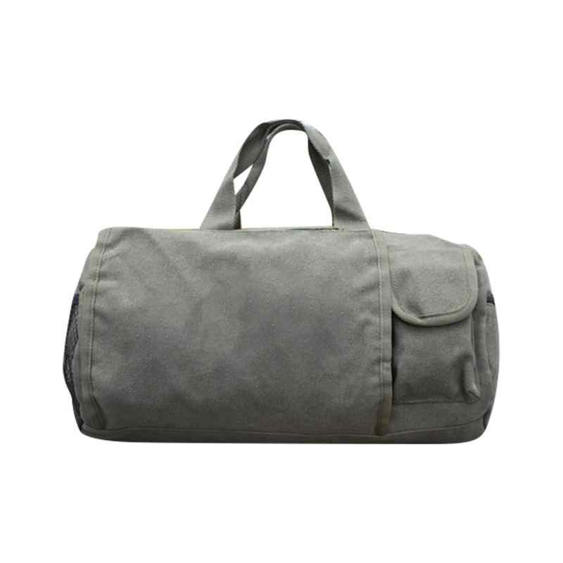 526dd1810ad5 Canvas Sports Travel Shoulder Duffle Tote Bag Portable Waterproof Luggage  Bags For Men And Women Weekend
