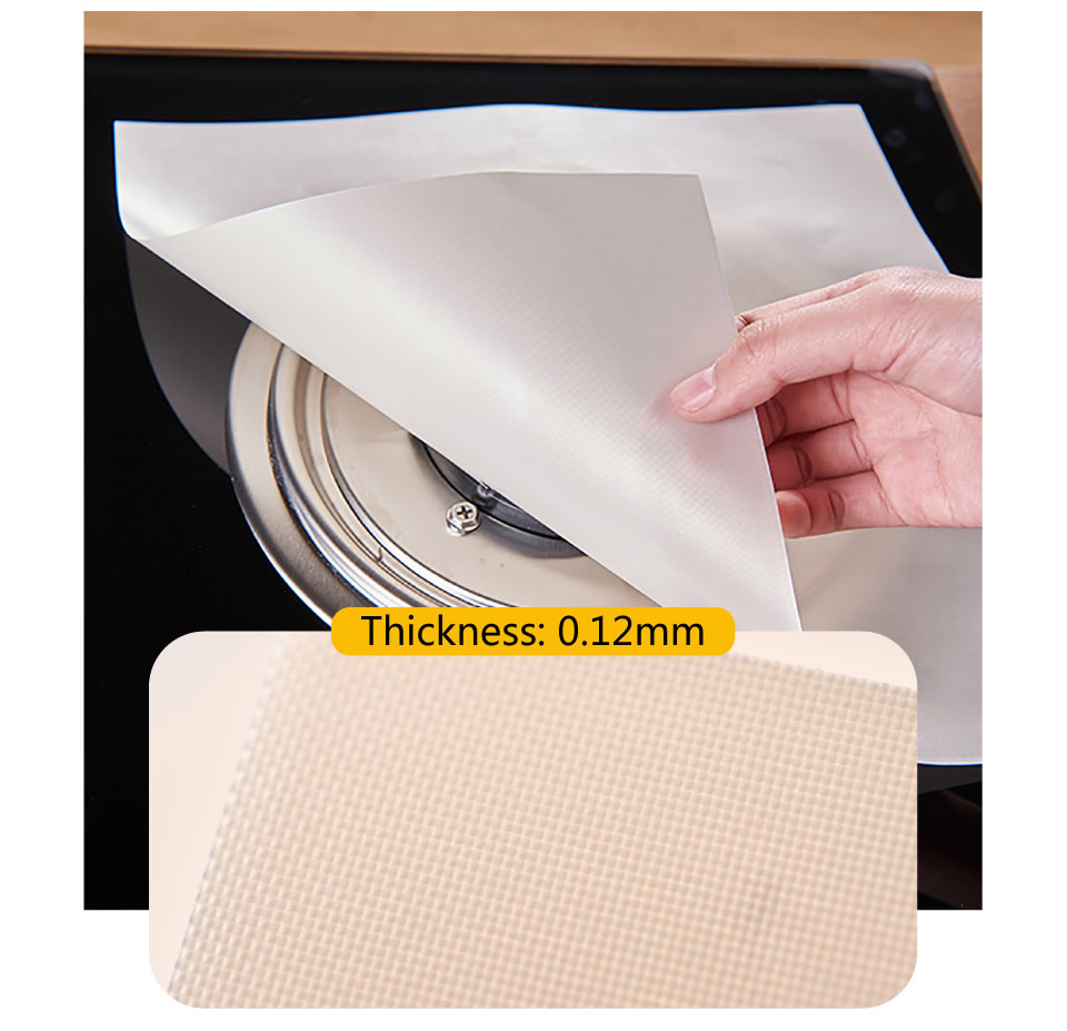 Square High Quality Stocked Eco friendly Modern Reusable Beige Color Gas Stove Protectors Mats Home Kitchen Glass Fiber Pads in Mats Pads from Home Garden