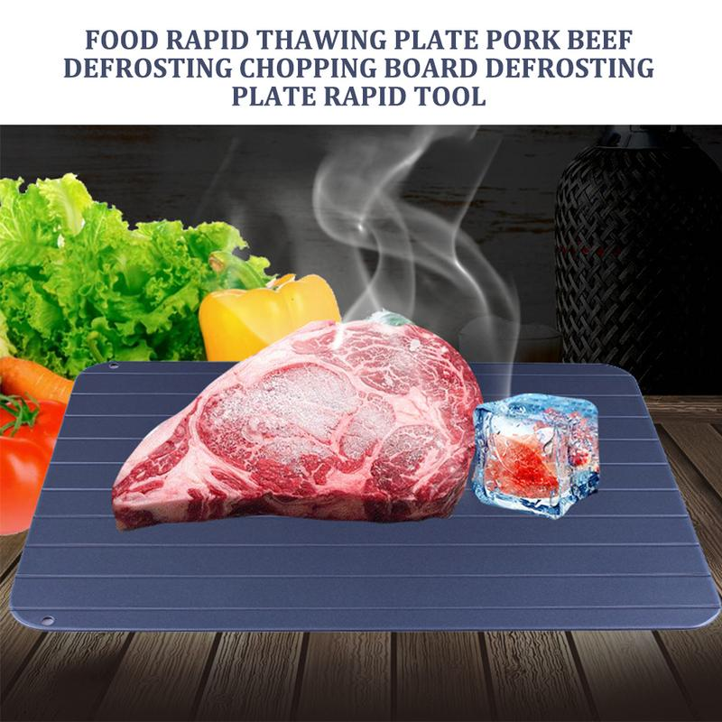 Food Rapid Thawing Plate Pork Beef Defrosting Chopping Board Defrosting Plate Rapid Tool