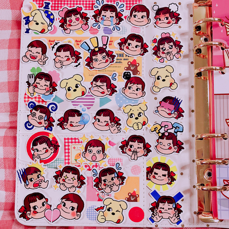 32Pcs/Pack Q Version Child Stickers Cute Hand Account Sticker For Luggage Laptop Phone Notebook Pegatinas Sticker For Gift
