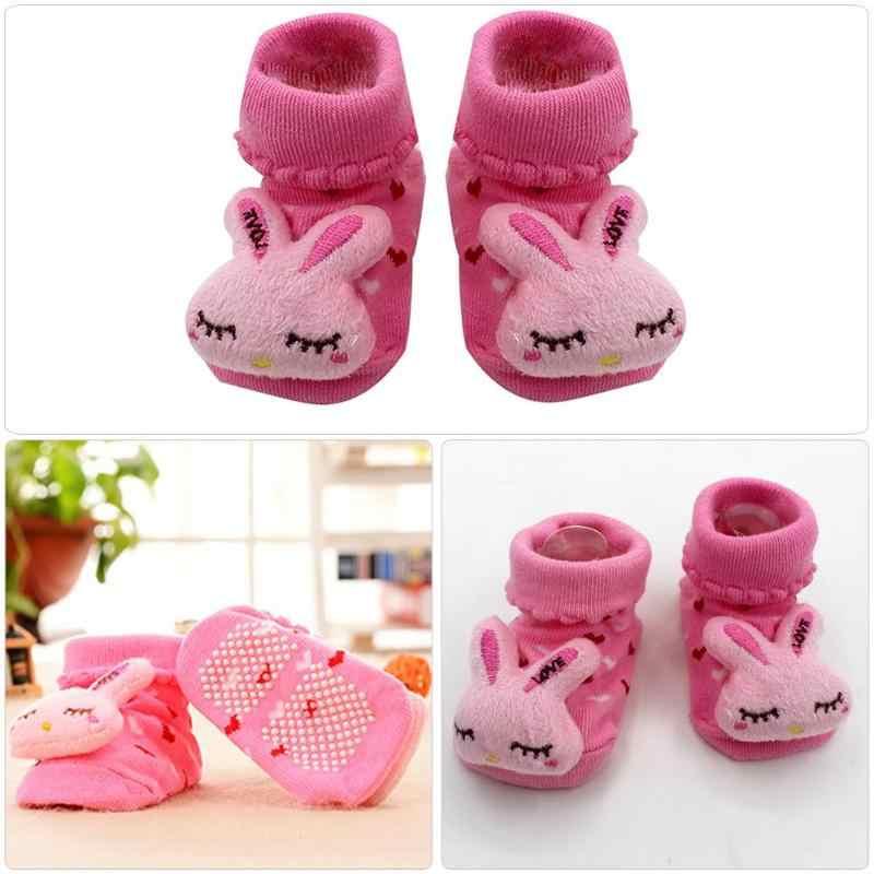 신생아 아기 소녀 소년 Anti-Slip 양말 슬리퍼 만화 아기 양말 신발 부츠 유아 가을 봄 양말 0-6-12 개월