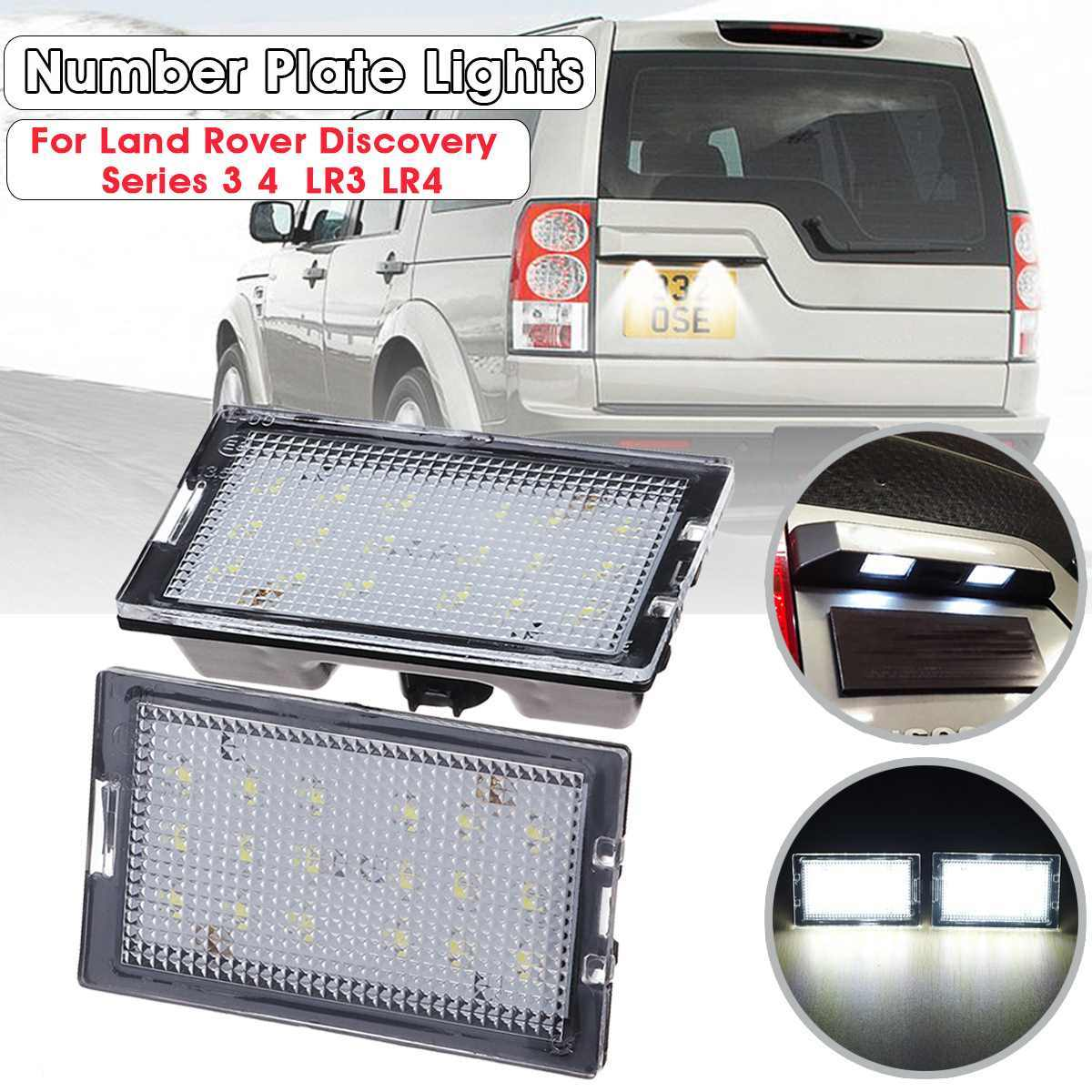 Pair LED license Number Plate Light Lamp For Land Rover Discovery Series 3/LR3 4/LR4 Freelander 2/LR2 Range Rover Sport