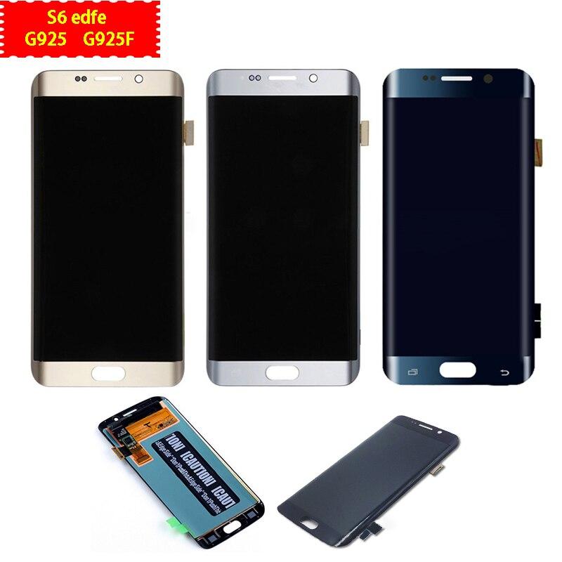 Pour Samsung Galaxy S6 bord LCD écran tactile numériseur cadre pour Samsung S6 Edge G925 G925F outils de réparation de remplacement