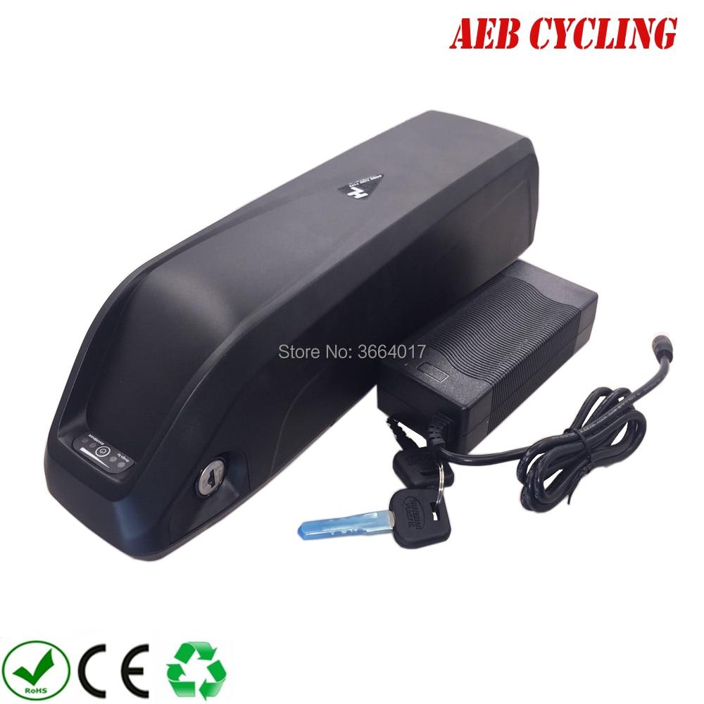 O Envio gratuito de Li-ion Recarregável 36 v 11.6ah 48 v 10.5ah 52 v 10ah bicicleta Elétrica da bateria 13ah 12ah 14ah 15ah 16ah 17ah Ebike pack