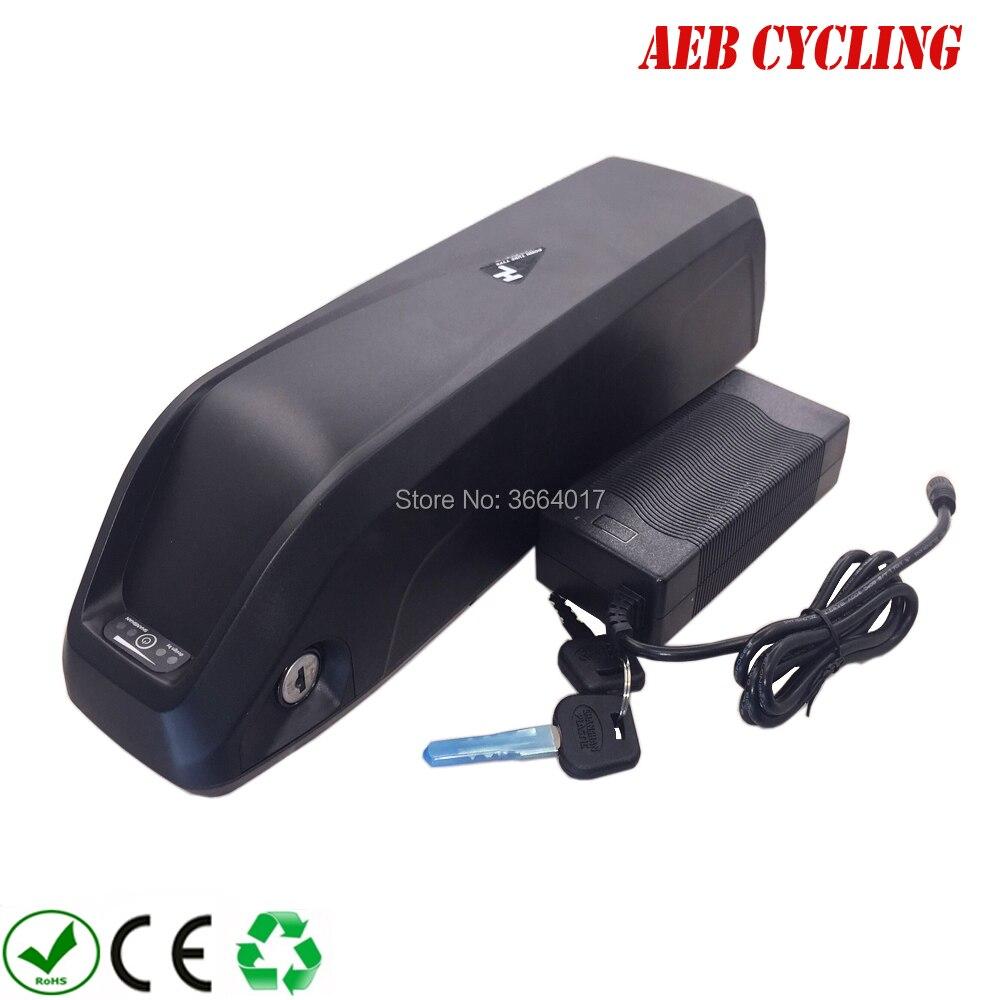 Frete grátis li-ion recarregável 36v 48v 52v bateria de bicicleta elétrica 10ah 10.5ah 11.6ah 12ah 13ah 14ah 15ah 16ah 17ah ebike pacote