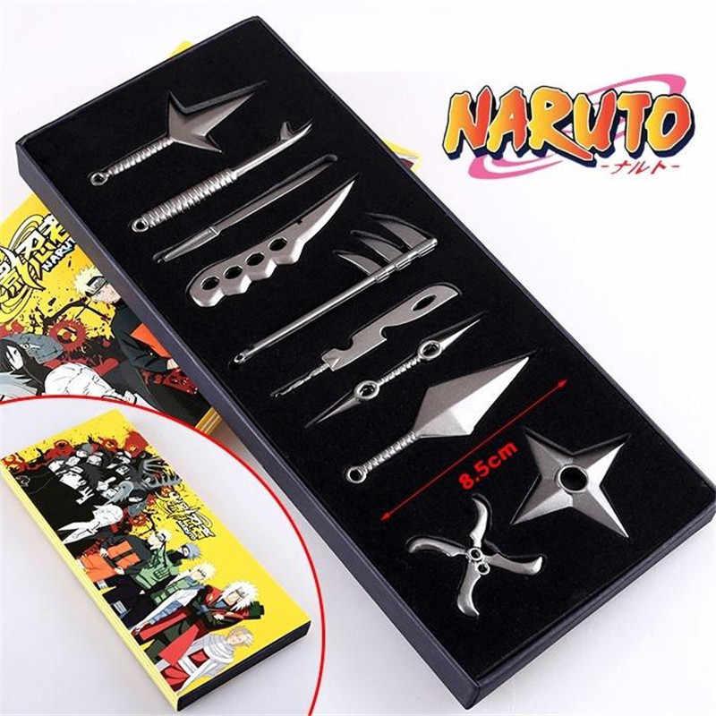 Anime Naruto Cosplay: Set Di 10 pz/set Akatsuki Armi Stelo della Chiave Portachiavi Regalo del Giocattolo Puntelli Cosplay