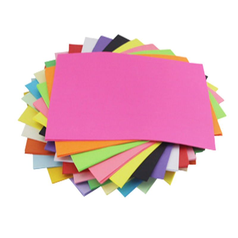 100 sheets Colorful Copy Paper 70G A4 Print Copy Paper  Hand-off Drawing Paper Office Supplies Colored Paper 2