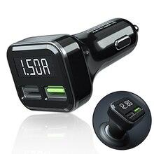 QC3.0 3.1A Dual USB Car Charger 2 Port LCD Display 12-24V Cigarette Lighter Socket
