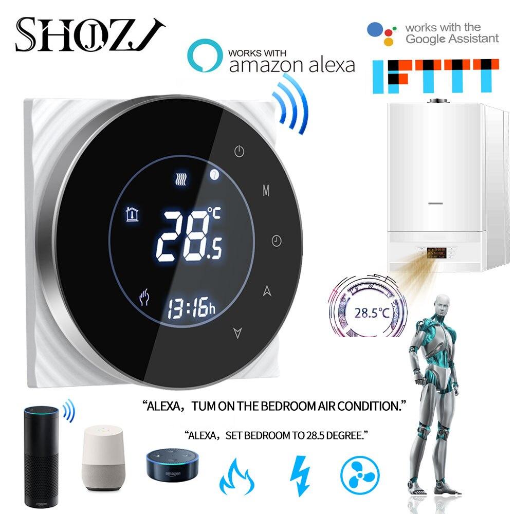 TUYA Alexa Google hogar agua/Gas caldera termostato Backlight WIFI programa semanal controlador de temperatura-in control remoto inteligente from Productos electrónicos on AliExpress - 11.11_Double 11_Singles' Day 1