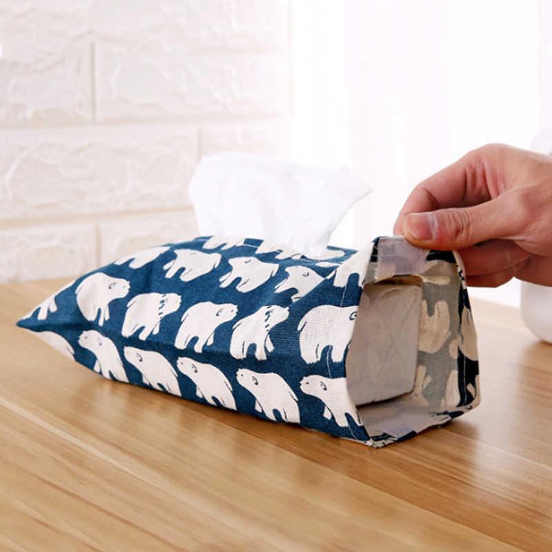 Verkauf Cartoon Wohnkultur Serviette Papier Behälter Niedlich Tissue Box Serviette Fall Hause Auto 1 stück Baumwolle Und Leinen Papier handtuch
