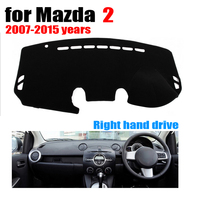 Car dashboard cover mat for Mazda 2 2007 2015 years Right hand drive dashmat pad dash mat covers auto dashboard accessories