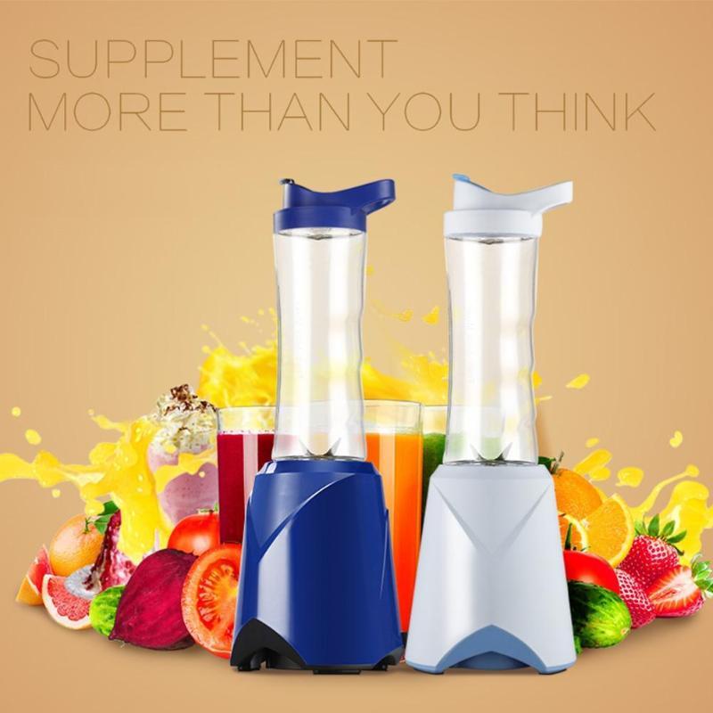600ml 4 Blades Multi-function Portable Electric Juicer Blender Fruit Baby Food Milkshake Mixer Food Grinder Juice Maker Machine цена 2017