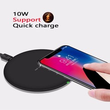 10W Fast wireless charger for iphone X/8 plus quick charge For Samsung Galaxy S9/S9 Plus Note 8/5 S8 Plus S7/S6 charging pad QI accezz 10w fast qi wireless charging pad for samsung galaxy s6 s8 s7 note 8 iphone x 8 plus ultra thin phone wireless charger
