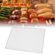 Barbecue Grill Plated Baking Net Japanese Korean Style Rectangular Barbecue Tools Barbecue Net Mesh Plating Baking Net 2019 New цена и фото