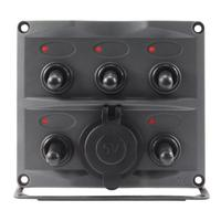 VODOOL Car Auto Replacement Parts Waterproof 12V/24V Car Boat 5 Gang Toggle Switch Panel Dual USB Charger Interior Parts