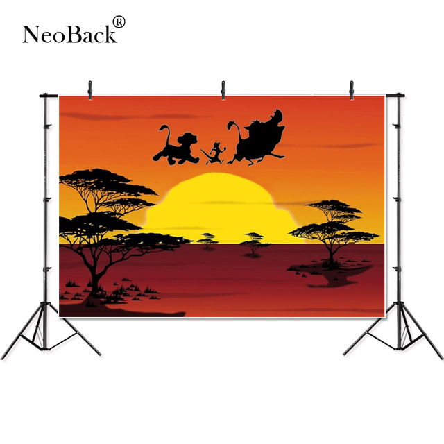 Thin Vinyl lion king the African grassland kids children Photography studio Backgrounds professional indoor Photo Backdrops