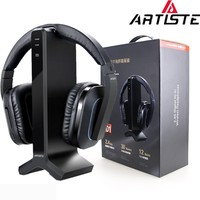 Artiste D1 Wireless TV Headphone with 2.4G Digital Transmitter Charging Dock Cordless for Radio and Computer Gaming Headset
