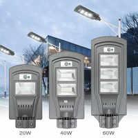 Lampada Da Parete Solare del LED Luce di Via 20 W/40 W/60 W Dusk to Dawn Super Luminoso di Movimento sensore di Lampada di Sicurezza Impermeabile di trasporto libero per il Giardino Yard