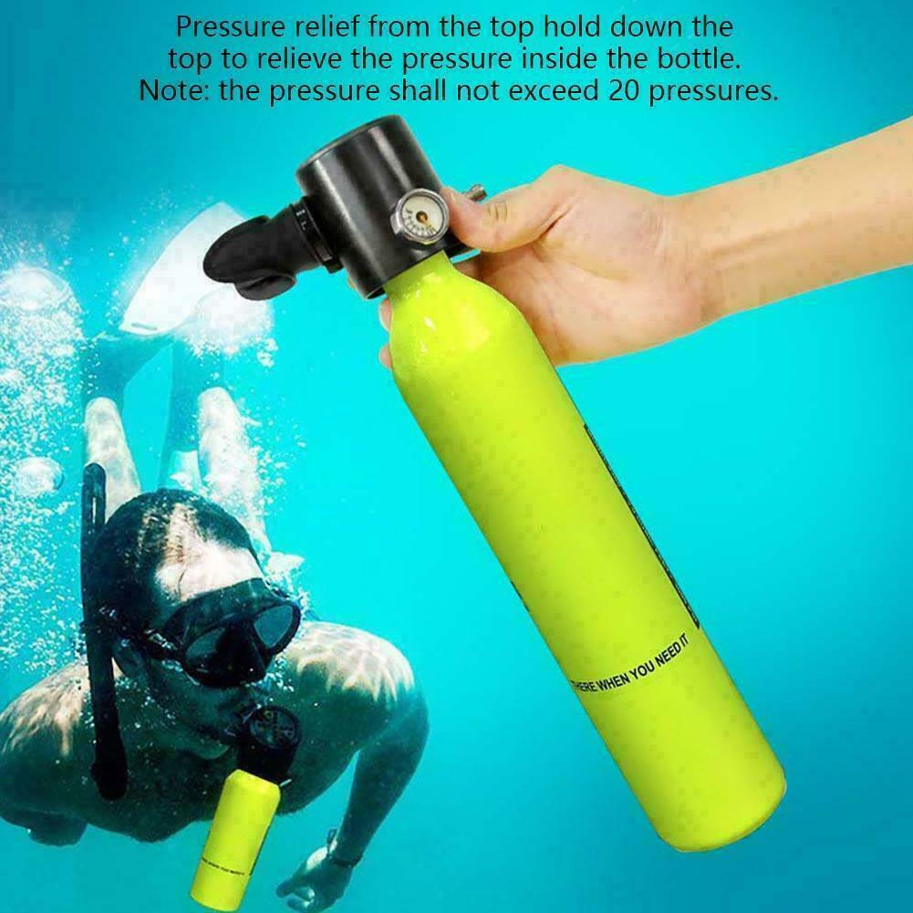 Mini bouteille de plongée sous-marine 500 ml équipement de plongée sous-marine Mini bouteille d'oxygène de plongée sous-marine pour 7-10 min