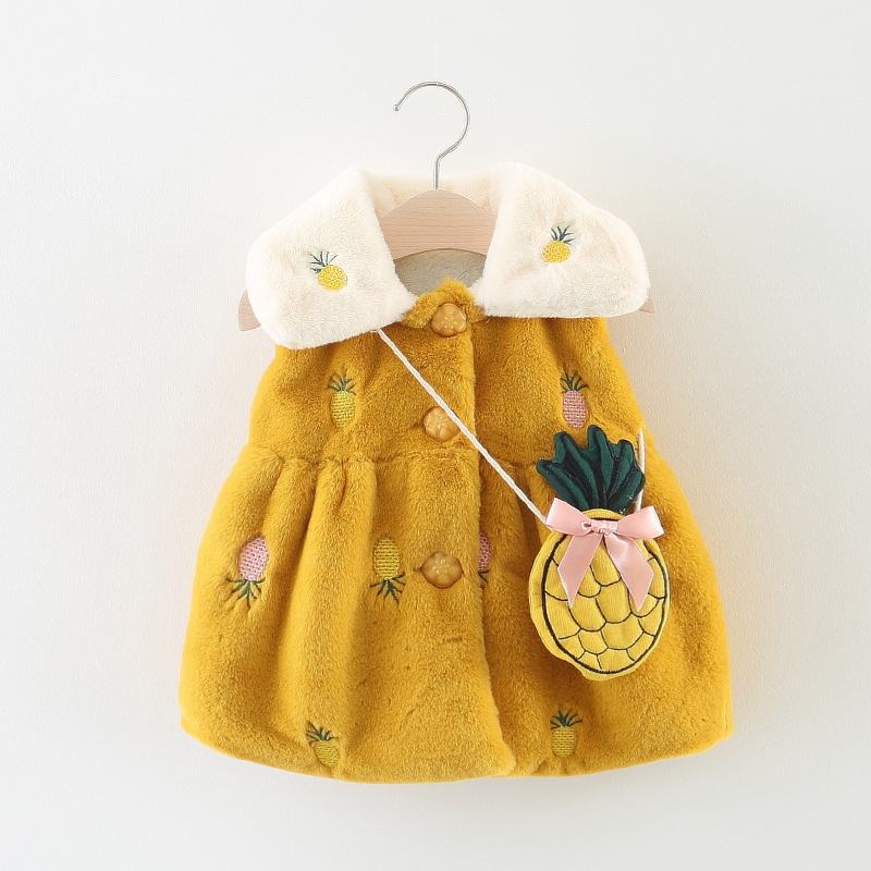 Baby Pelz Weste 2018 Herbst Mädchen Weste Warme Weste Winter Mantel Kinder Kleinkind Kleidung Oberbekleidung Sleeveless Weihnachten Jacke