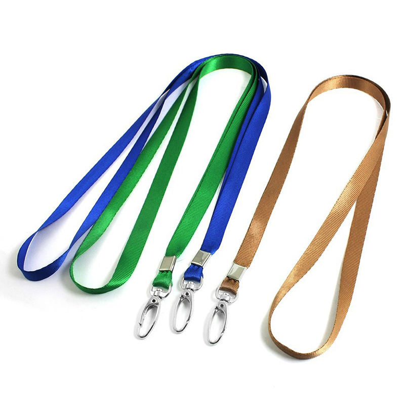 3 Pcs Blue Green Coffee Color Key Card Holder Neck Lanyard 16.1 Inchlong