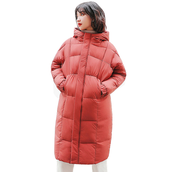Winter Jacket Women Plus Size Thickening Down Cotton Coat 2018 New Bread Long Coat,Warm Mujer Casual Hooded Padded Parkas P242