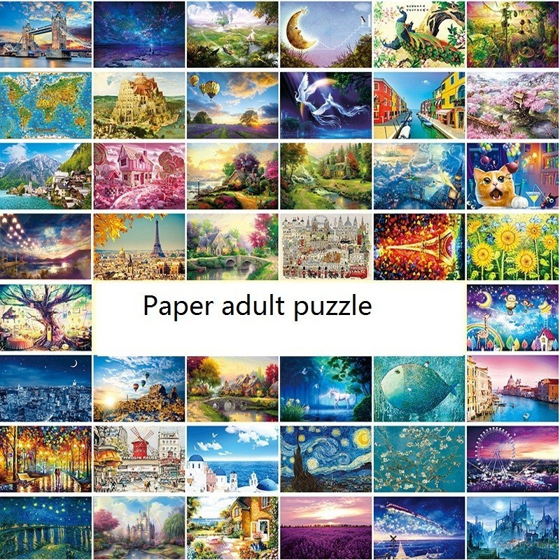 Adult Puzzle Kids Jigsaw Landscape Puzzles Noctilucent Educational Toys For Children Adult Fluorescent Puzzles Gift
