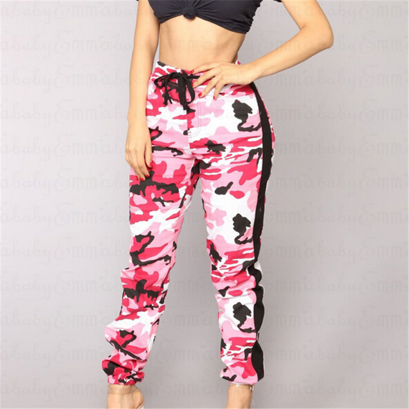5 Stili Di Donne Camo Cargo Pantaloni Casual 2018 Delle Signore Del Camuffamento Dell'esercito Militare Pantaloni Da Combattimento Pantaloni Skinny Fit Pantaloni Mimetici
