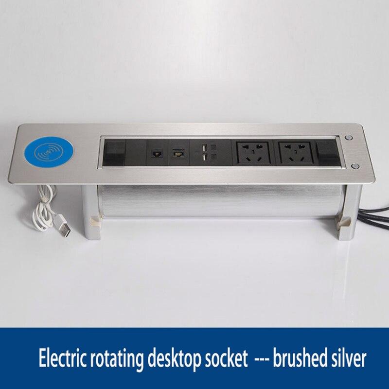 Prise de charge électrique sans fil multi fonction multimédia boîte d'information prise cachée/équipement de bureautique/01 - 6