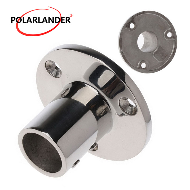 """Hand Rail Fitting 2018 Boat Parts & Accessories Round Base Hardware 90 Degree Stainless Steel Marine Boat 0.98""""(25mm) Tube"""