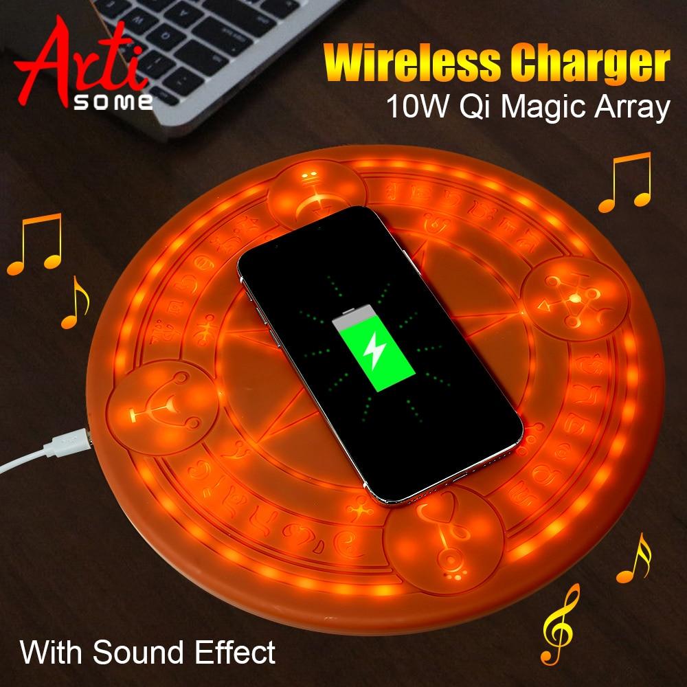 Chargeur sans fil 10 W Magic Array universel cercle Qi chargeur rapide sans fil chargeur pour iPhone X XS Max XR Samsung avec boîte