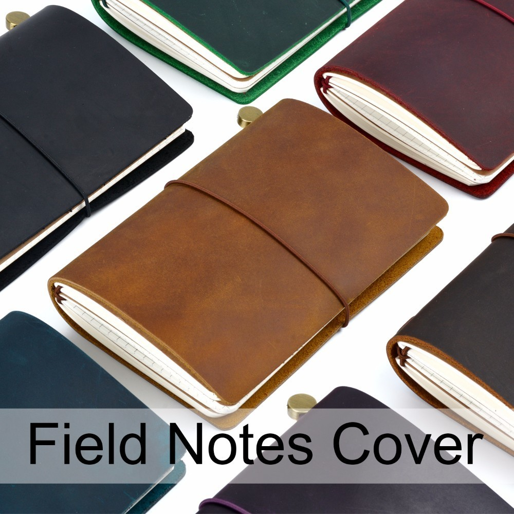 584adc4acb59 US $15.62 27% OFF|New Arrivals Field Notes Journal Cover Genuine Leather  Notebook Planner Handmade Travel Agenda Pocket Diary Vintage Stationery-in  ...
